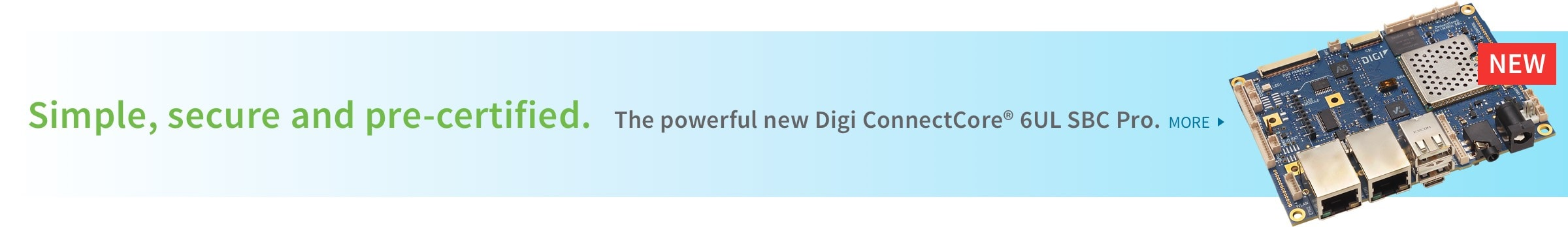 The Powerful new Digi ConnectCore 6UL SBC Pro
