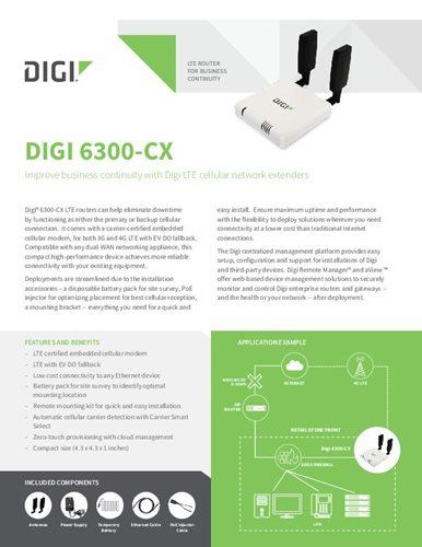 Digi 6300-CX Datasheet cover page