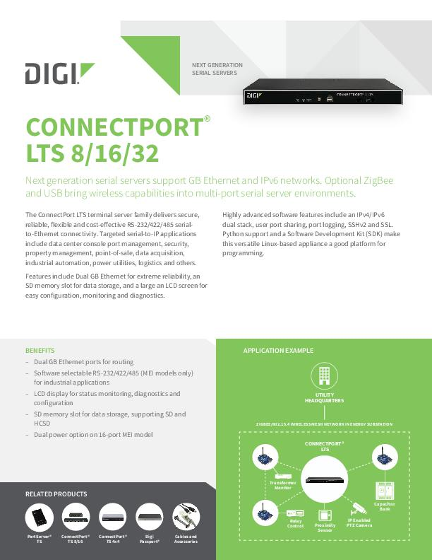 ConnectPort LTS 8/16/32 Datasheet cover page
