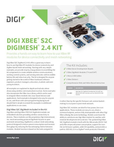 Digi XBee® S2C  DigiMesh® 2.4 Kit Datasheet cover page