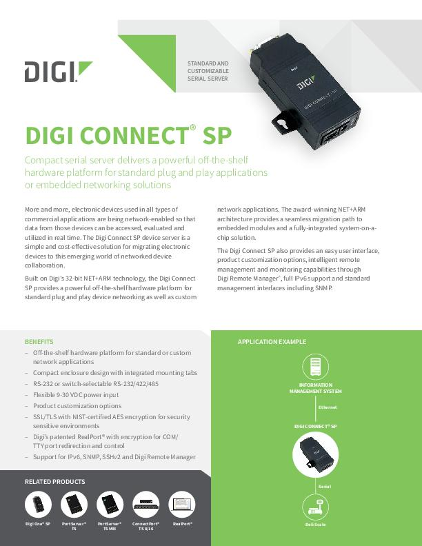 Connect SP Datasheet cover page
