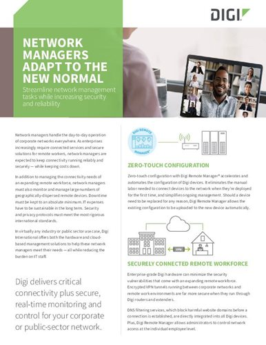 Network Managers Adapt to the New Normal cover page