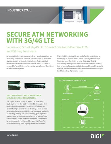 Secure ATM Networking With 3G/4G LTE cover page