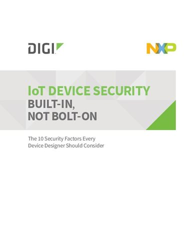 The 10 Security Factors Every Device Designer Should Consider cover page