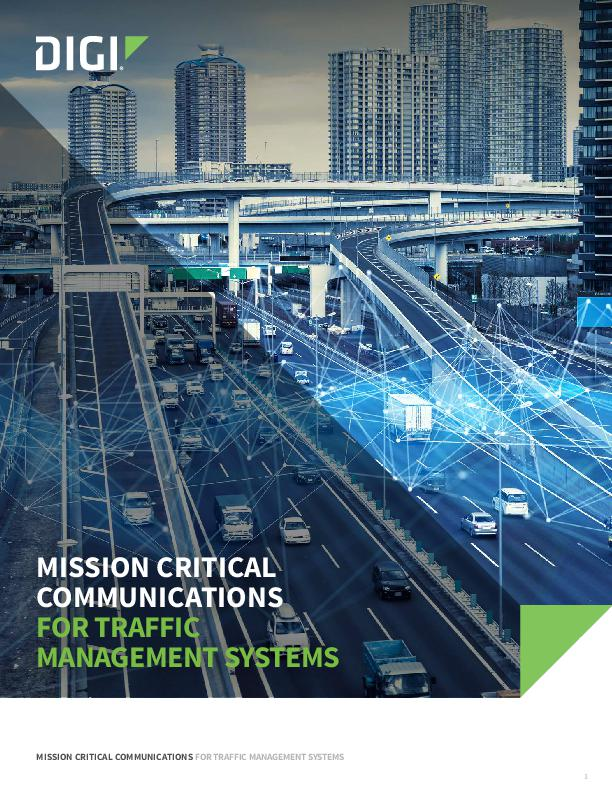 Digi Mission Critical Communications for Traffic Management Systems White Paper cover page