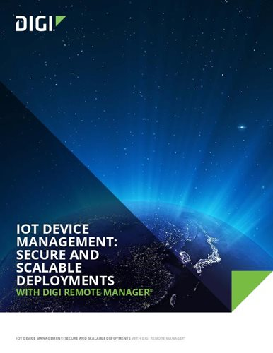 Managing IoT with Digi Remote Manager White Paper cover page
