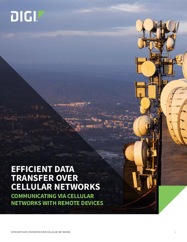 Efficient Data Transfer over Cellular Networks White Paper cover page