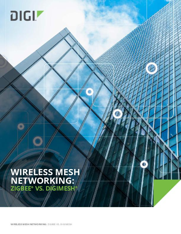 Wireless Mesh Networking Zigbee vs. DigiMesh White Paper cover page