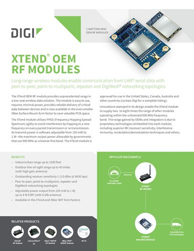 1 Watt Long-Range OEM RF modules | Digi International