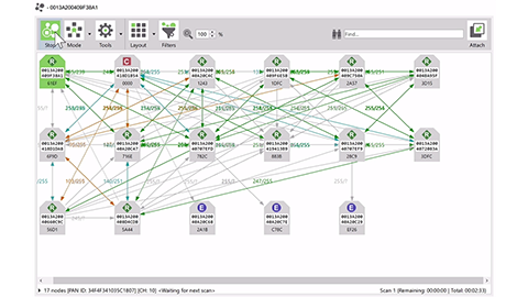 Digi XCTU Live Network Mapping Tool