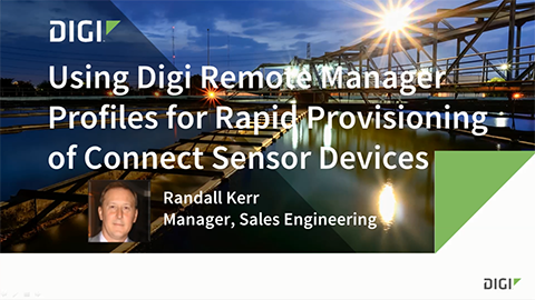 Profile Manager for Digi Connect Sensor