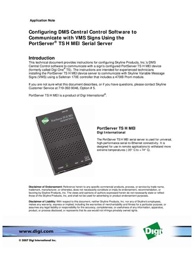 Digi One PortServer TS 1/2/4 MEI Windows 8