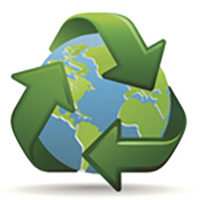 Earth friendly practices icon