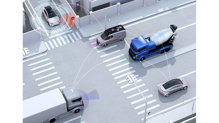 Connected vehicle technology in city intersections