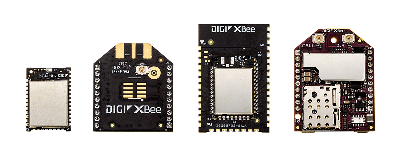 Digi XBee family form factors