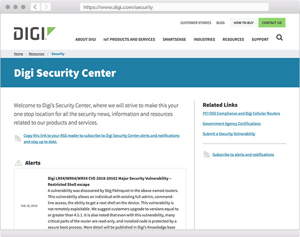 Visit the Digi Security Center