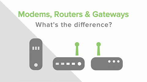Modems, Routers, Gateways:  What's the Difference?