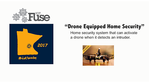 Home Security Equipped Drone