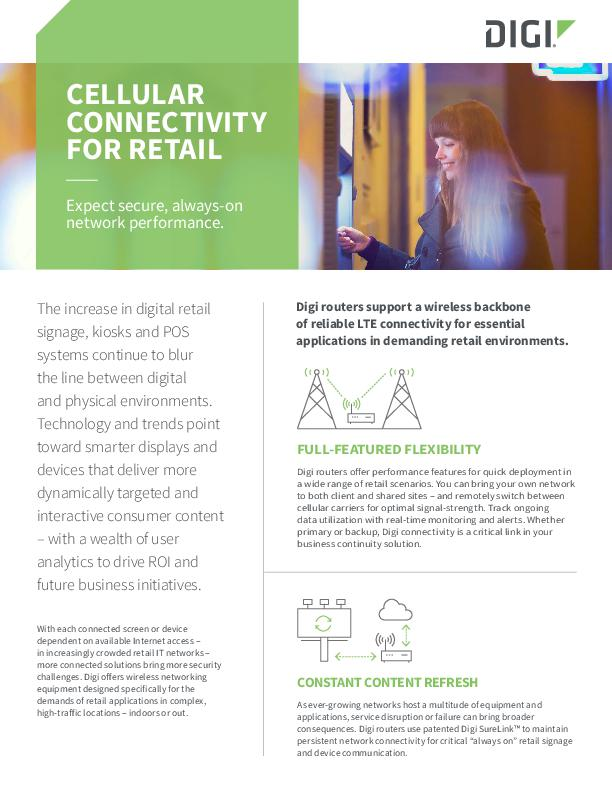 Cellular Connectivity for Retail