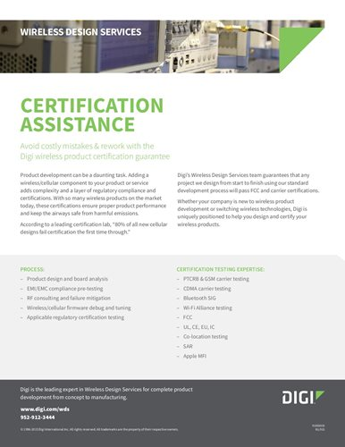 Wireless Design Services: Certification Assistance
