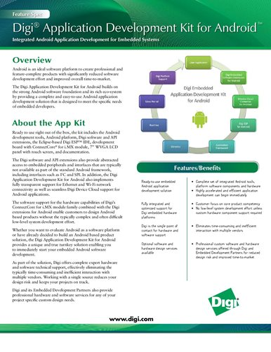 Digi Application Development Kit for Android™ Feature Spec
