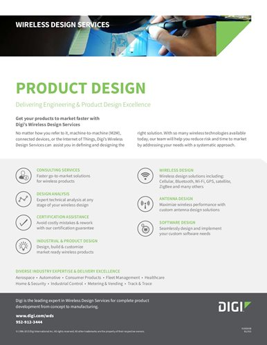 Wireless Design Services: Product Design Datasheet