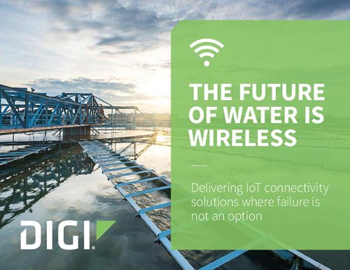 Digi connectivity is ideal for water and wastewater treatment plant monitoring, lift station control, chemical monitoring and control, SCADA system communication and water flow control.