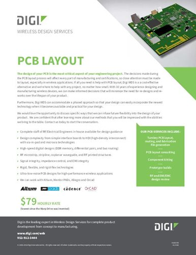 Wireless Design Services: PCB Layout Datasheet
