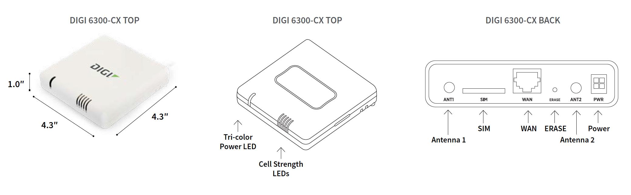 Digi 6300-CX LTE Cellular Extender | Digi International
