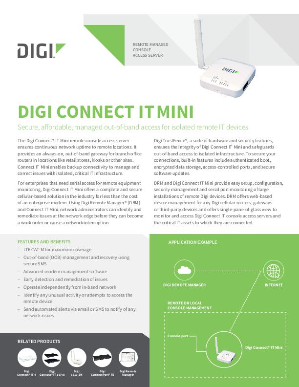 Digi Connect IT Mini datasheet
