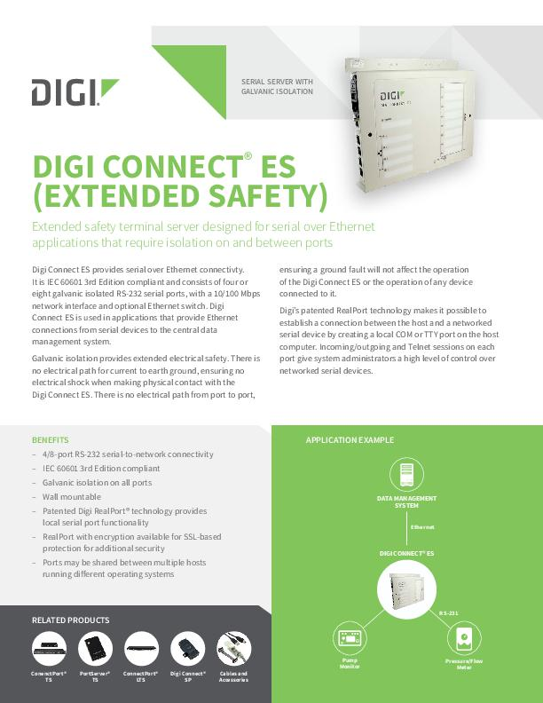 Digi Connect ES (Extended Safety) Datasheet