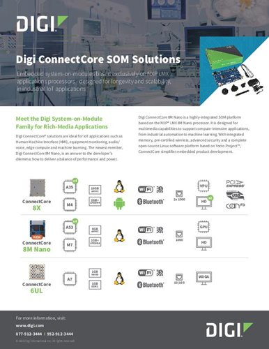 Digi ConnectCore SOM Solutions