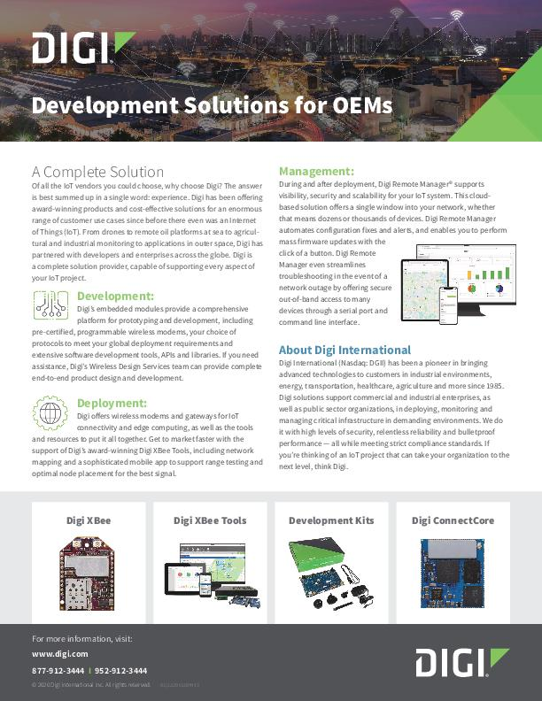 Development Solutions for OEMs
