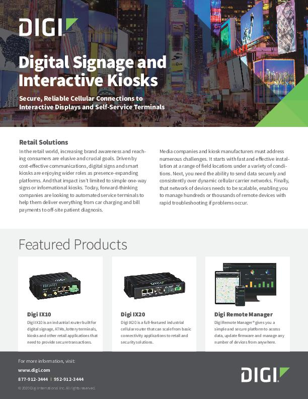 Digital Signage & Interactive Kiosks
