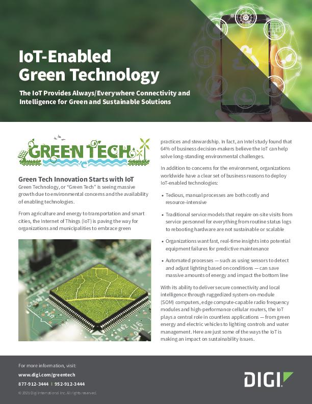 IoT-Enabled Green Technology