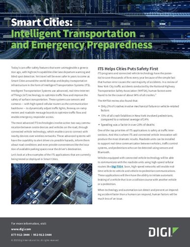 Smart Cities: Intelligent Transportation and Emergency Preparedness