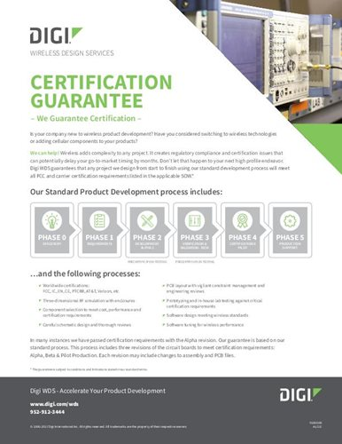 Wireless Design Services Certification Guarantee