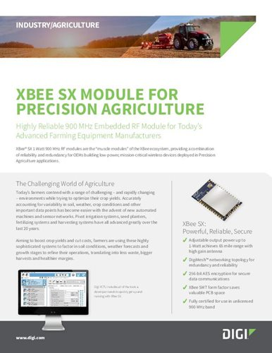 Digi XBee SX Module for Precision Agriculture