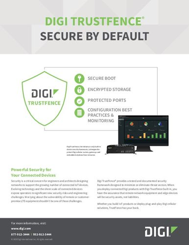 Digi TrustFence is the Security Framework for the Digi Transport® LR Series of M2M Routers