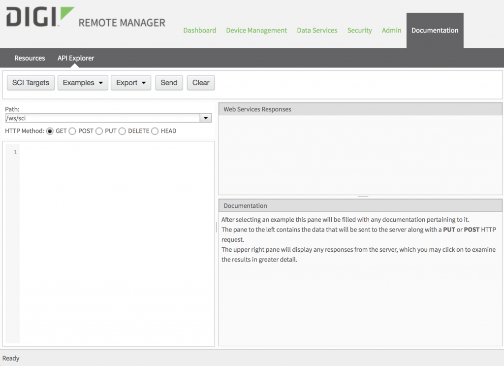 Digi Remote Manager API Explorer