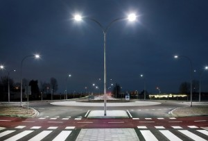 Roundabout at twilight