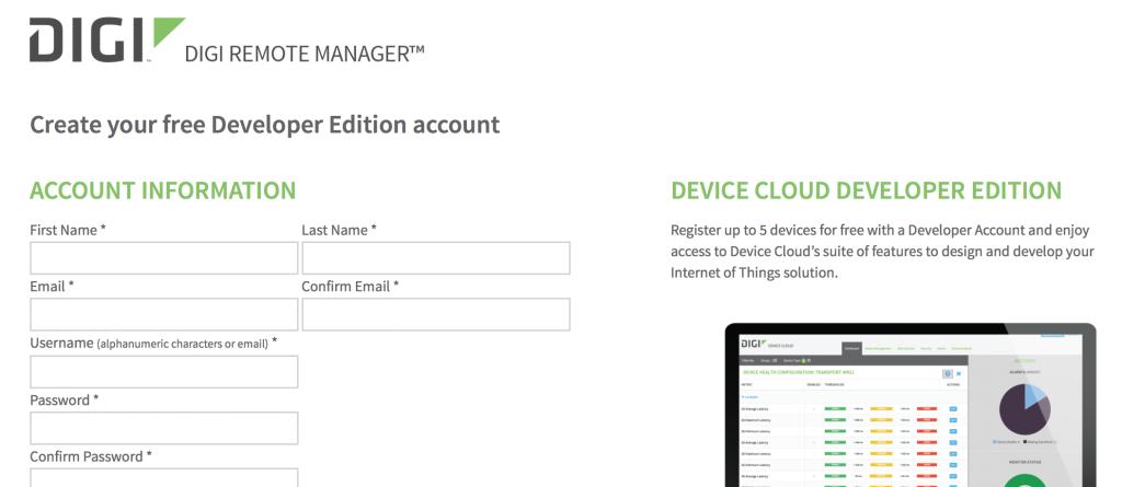 Developer account setup