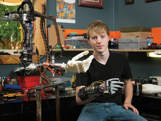 Easton and one version of the robotic arm