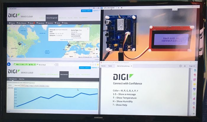 Digi LTE-M-NB-IoT display