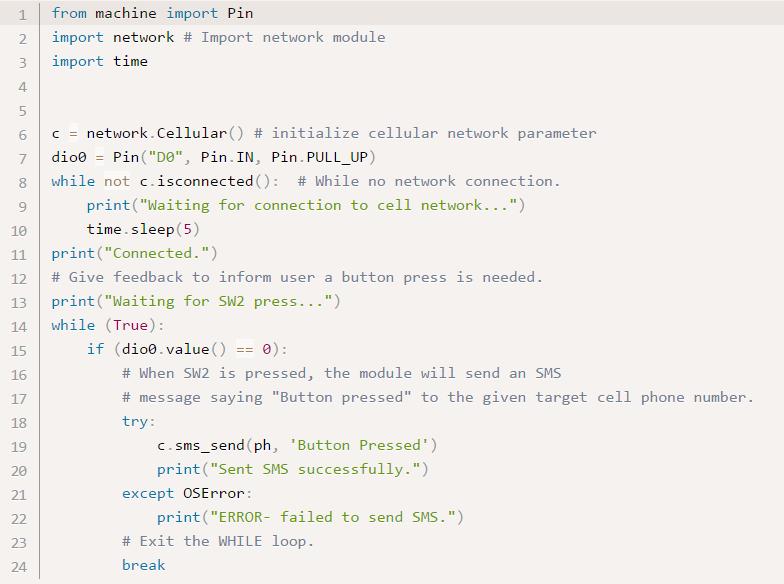 Digi XBee Cellular Supports MicroPython Programmability