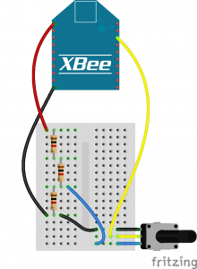 XBee Gateway Kit Potentiometer Circuit_bb