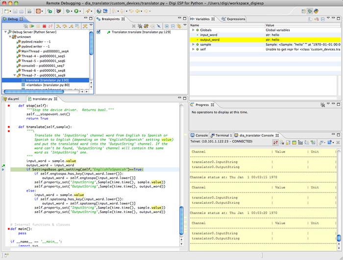 Writing a program using python on mac