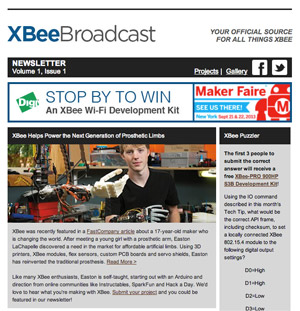 XBee Broadcast Newsletter