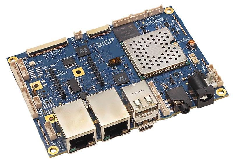 CC-SBP-WMX-JN58 - ConnectCore 6UL SBC Pro | Digi International