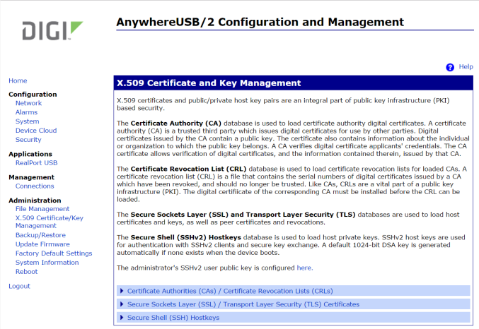 X.509 Certificate and Key Management